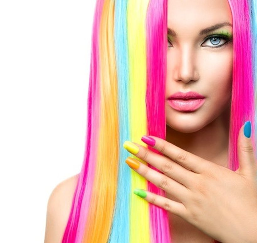 Crazy colorful hair colour ideas for long hair 106