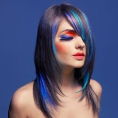 Crazy colorful hair colour ideas for long hair 108