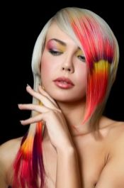 Crazy colorful hair colour ideas for long hair 111