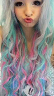 Crazy colorful hair colour ideas for long hair 12