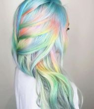 Crazy colorful hair colour ideas for long hair 137