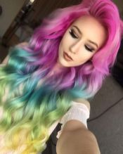 Crazy colorful hair colour ideas for long hair 138