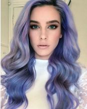 Crazy colorful hair colour ideas for long hair 139