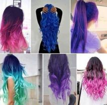 Crazy colorful hair colour ideas for long hair 145