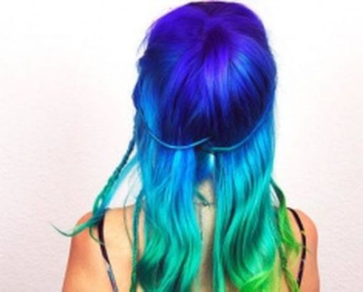 Crazy colorful hair colour ideas for long hair 186