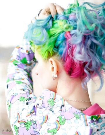 Crazy colorful hair colour ideas for long hair 189