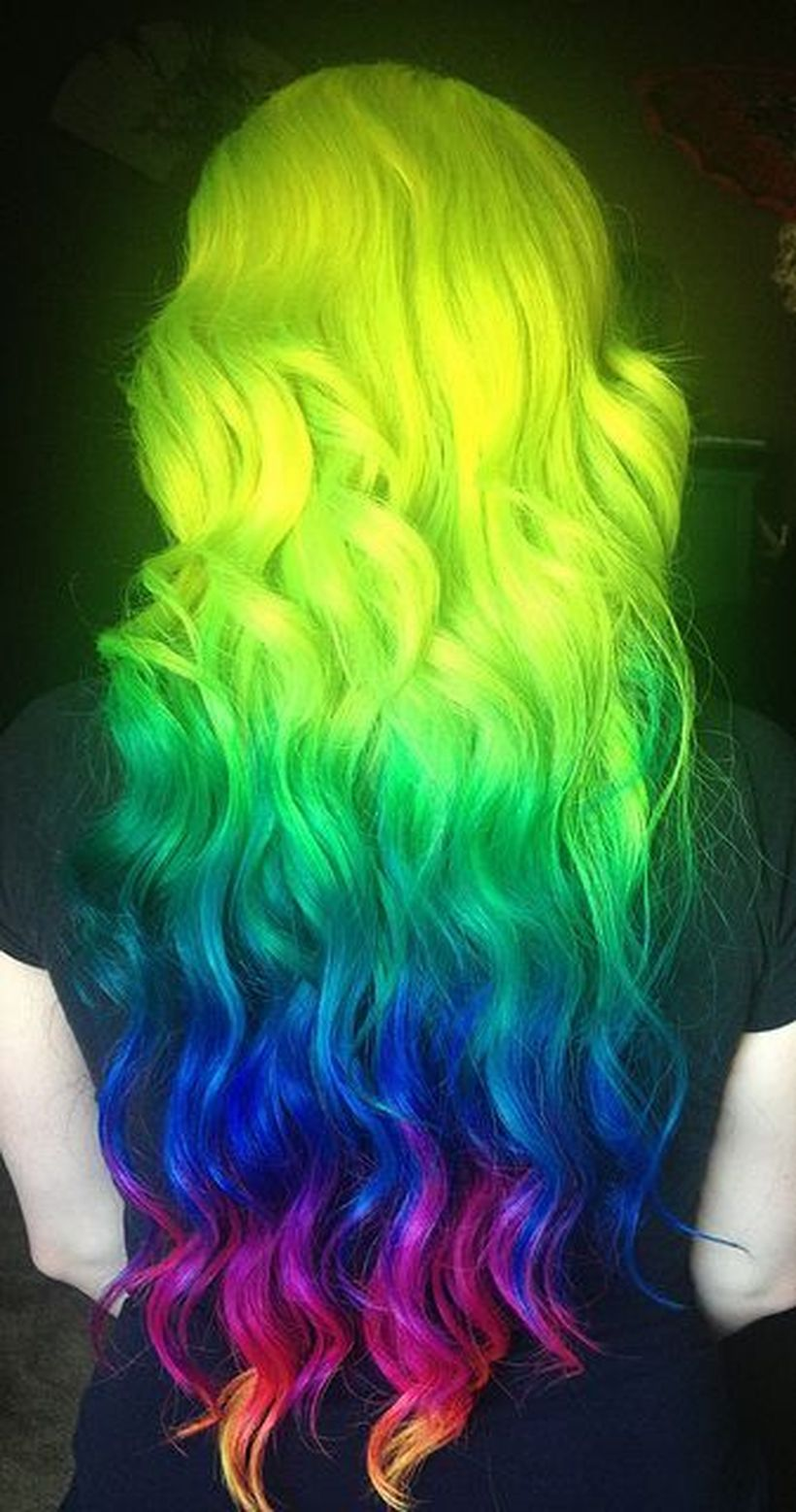 Crazy colorful hair colour ideas for long hair 197