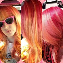 Crazy colorful hair colour ideas for long hair 20