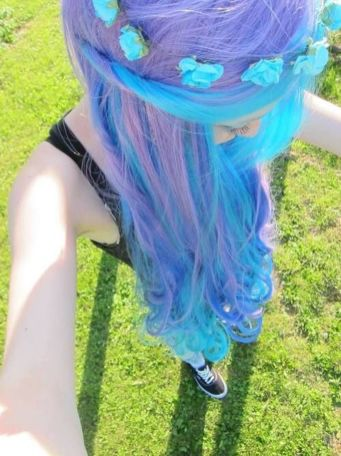 Crazy colorful hair colour ideas for long hair 211