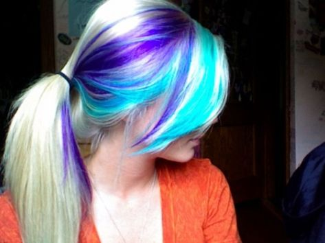 Crazy colorful hair colour ideas for long hair 212