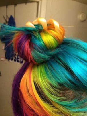 Crazy colorful hair colour ideas for long hair 215