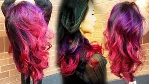 Crazy colorful hair colour ideas for long hair 216