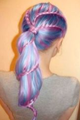 Crazy colorful hair colour ideas for long hair 27