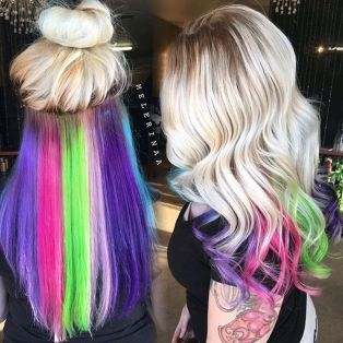 Crazy colorful hair colour ideas for long hair 33