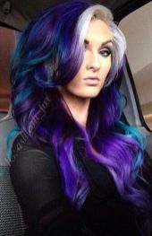 Crazy colorful hair colour ideas for long hair 35
