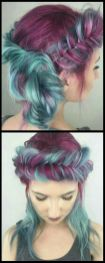Crazy colorful hair colour ideas for long hair 37