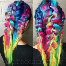 Crazy colorful hair colour ideas for long hair 4