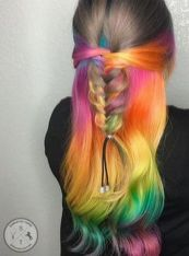 Crazy colorful hair colour ideas for long hair 45