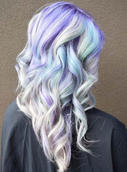 Crazy colorful hair colour ideas for long hair 46