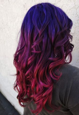 Crazy colorful hair colour ideas for long hair 5