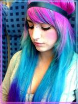 Crazy colorful hair colour ideas for long hair 56