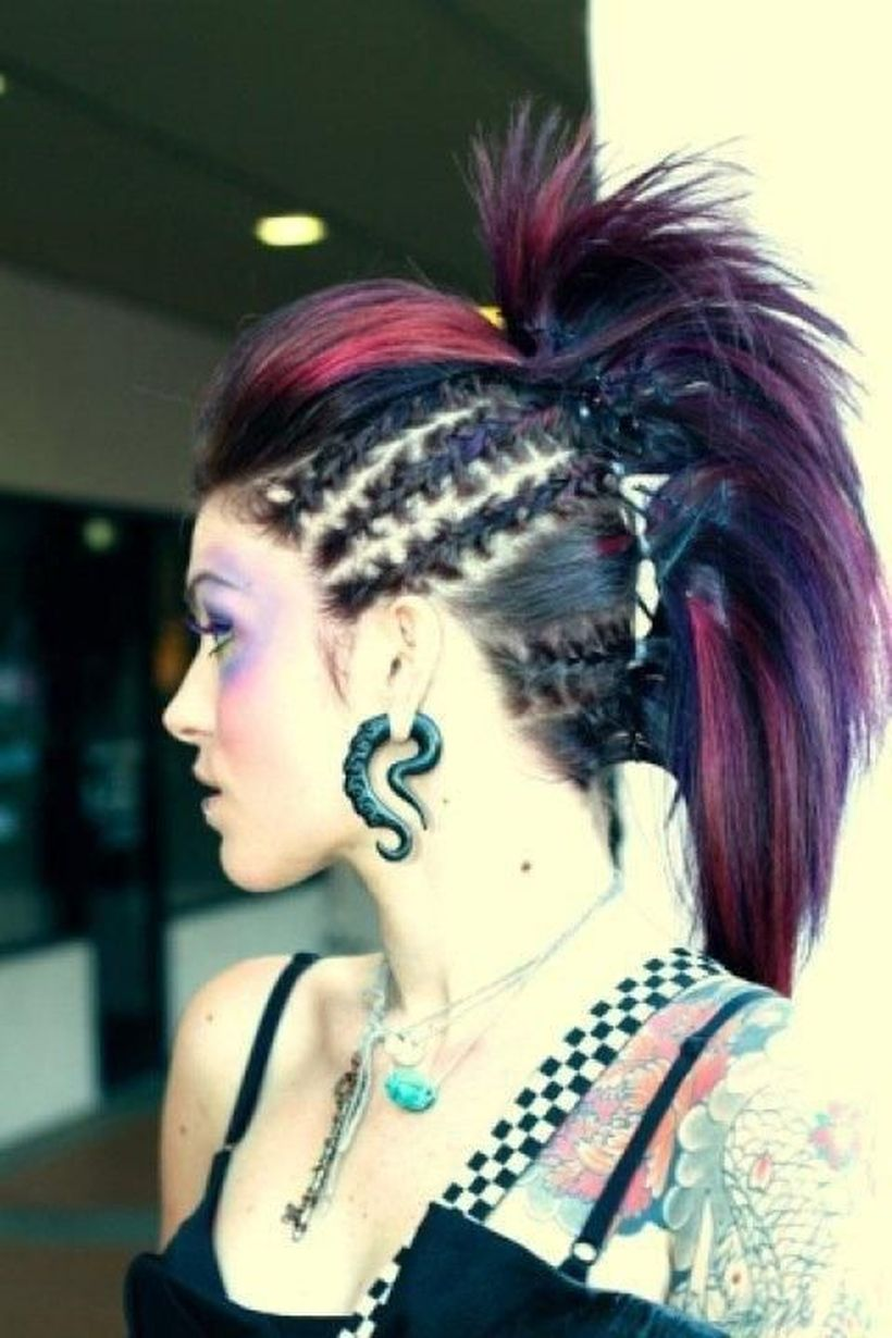 Crazy colorful hair colour ideas for long hair 57