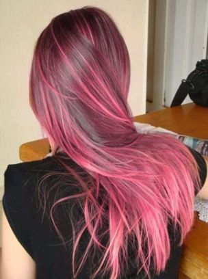 Crazy colorful hair colour ideas for long hair 69