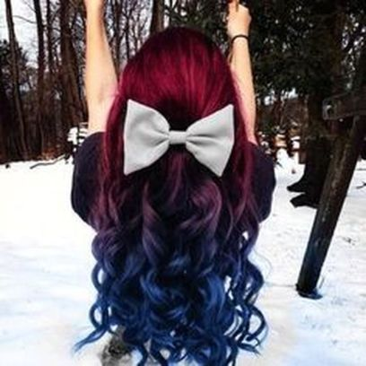 Crazy colorful hair colour ideas for long hair 70