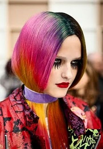 Crazy colorful hair colour ideas for long hair 83