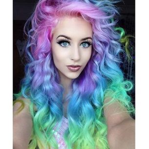 Crazy colorful hair colour ideas for long hair 90