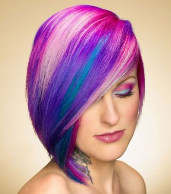 Crazy hair colour ideas for medium and short hair 11