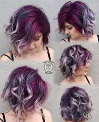 Crazy hair colour ideas for medium and short hair 17
