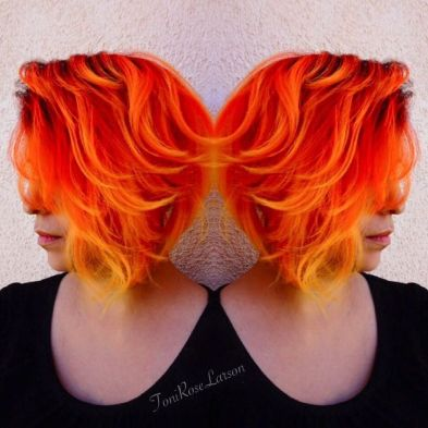 Crazy hair colour ideas for medium and short hair 18