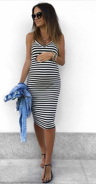 Fashionable maternity outfits ideas for summer and spring 81