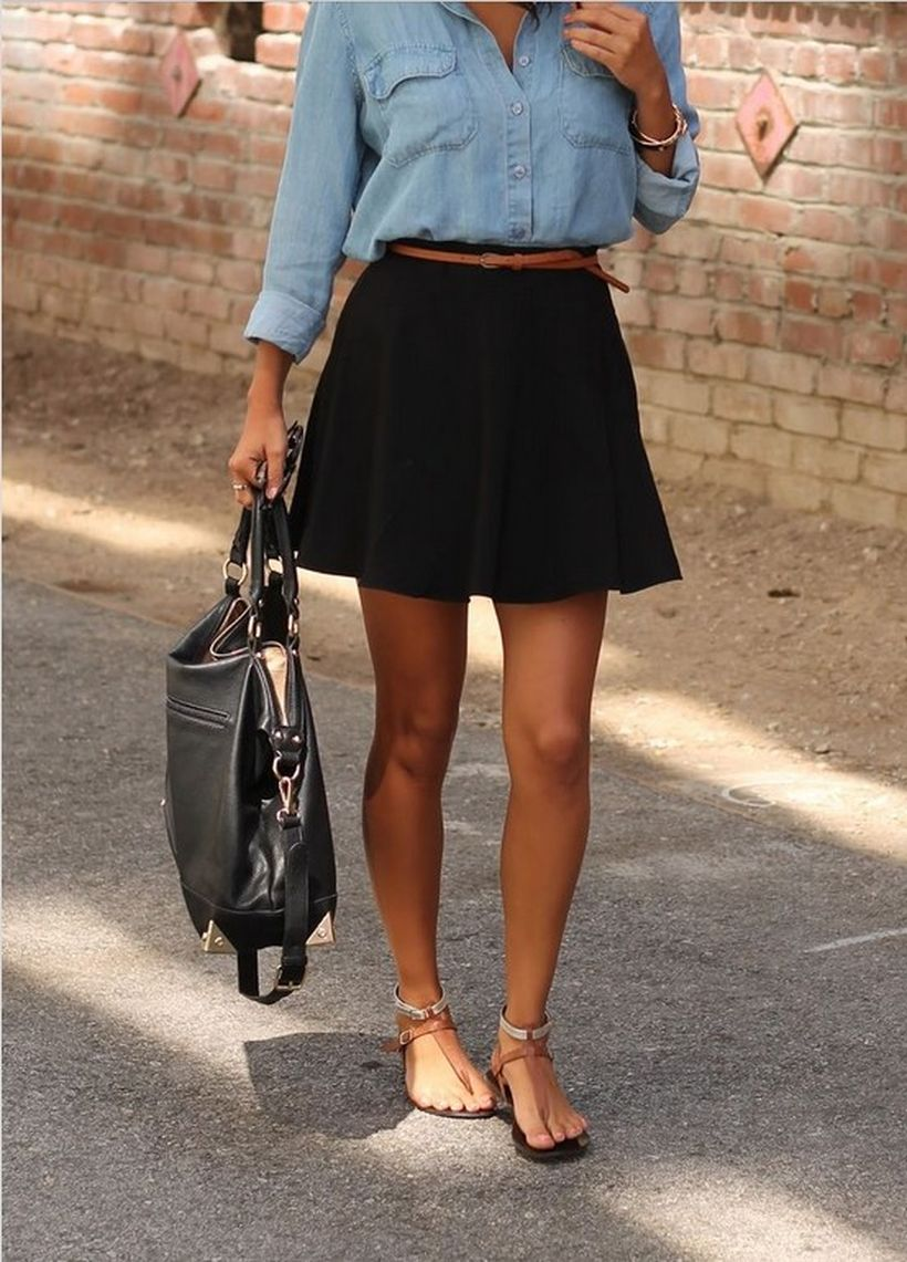 Fashionable skirt outfits ideas that you must try 13