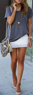 Fashionable skirt outfits ideas that you must try 18