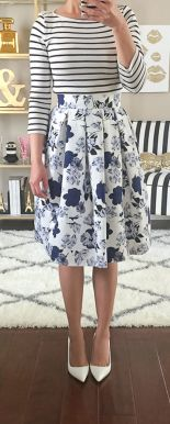 Fashionable skirt outfits ideas that you must try 19
