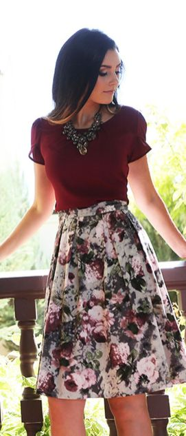 Fashionable skirt outfits ideas that you must try 28