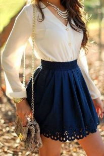 Fashionable skirt outfits ideas that you must try 34