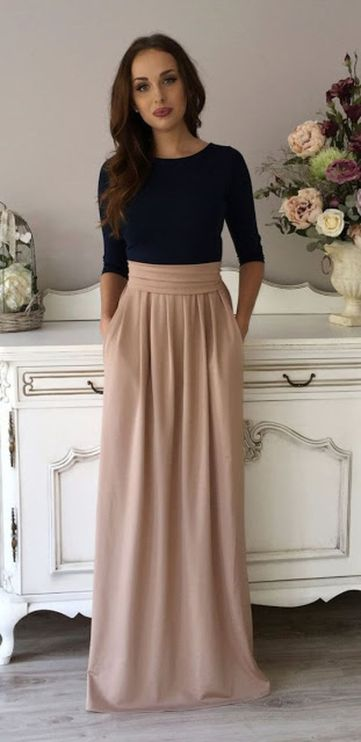Fashionable skirt outfits ideas that you must try 4