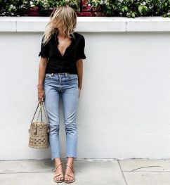 Inspiring simple casual street style outfits ideas 2