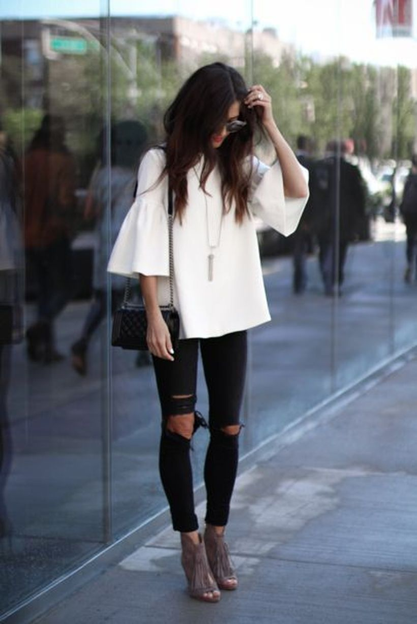 Inspiring simple casual street style outfits ideas 89