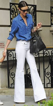 Perfect ways to wear white denim jeans outfits 12