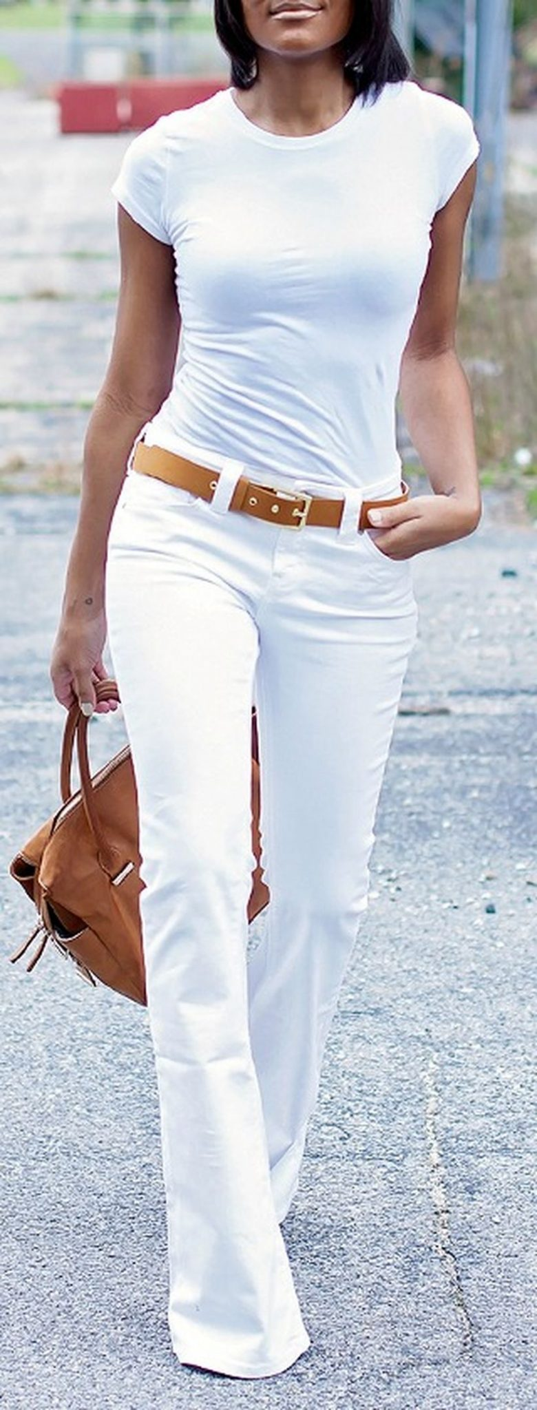 Perfect ways to wear white denim jeans outfits 72
