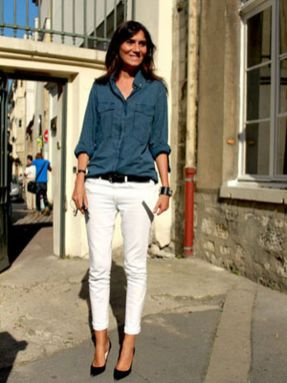 Perfect ways to wear white denim jeans outfits 88