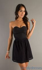 Stunning black short dresses outfits for party ideas 38