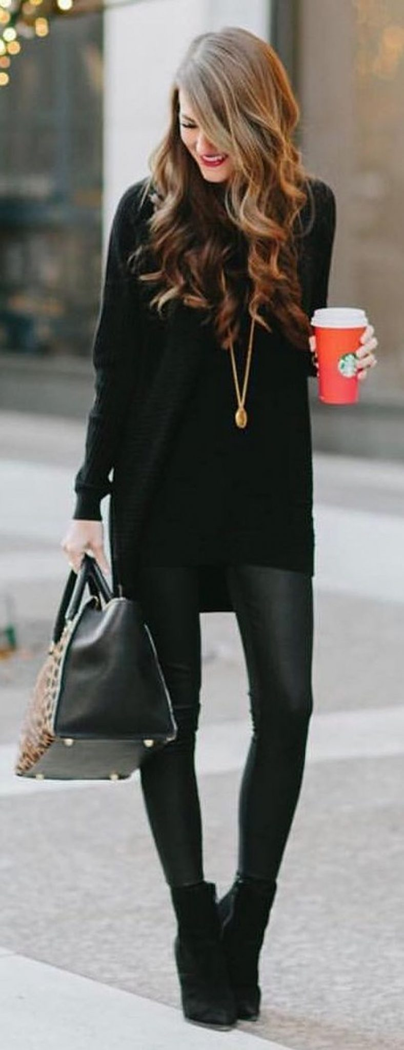 Stylish leather tote bags for work 18