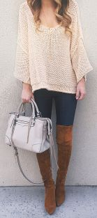 Stylish leather tote bags for work 19