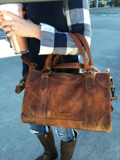 Stylish leather tote bags for work 20