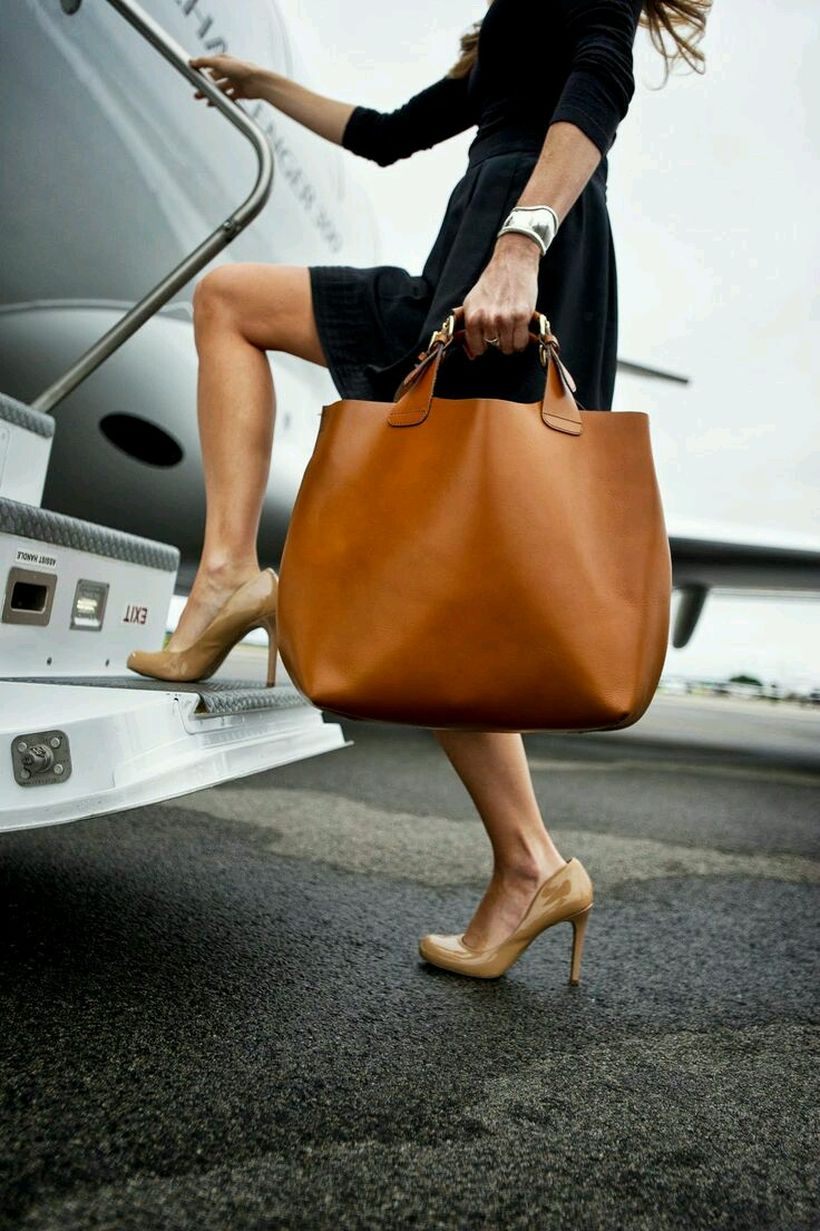 Stylish leather tote bags for work 33